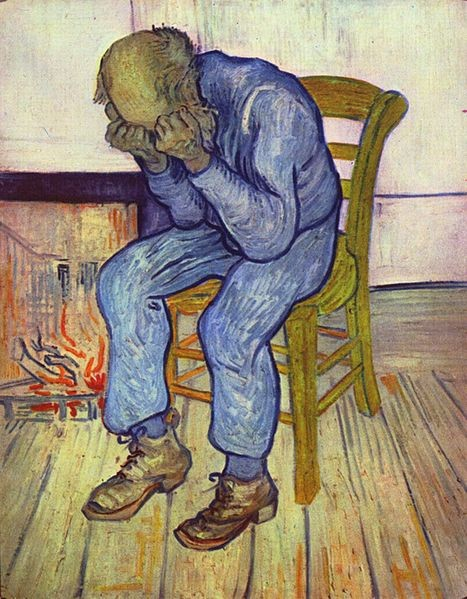 Vincent van Gogh:  Treurende oude man (At Eternity`s Gate)