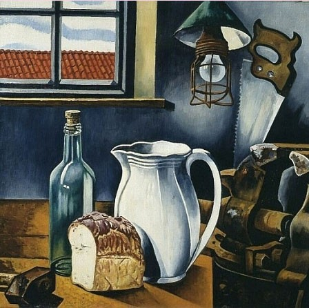 Charley  Toorop: Still Life with White Pitcher (Натюрморт с белым кувшином), 1954